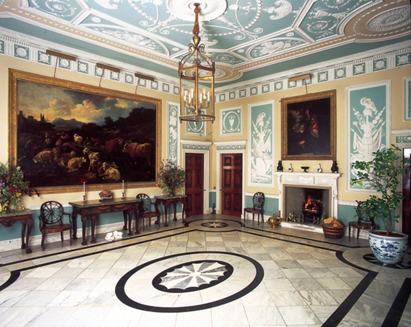 the entrance hall newby hall. Black Bedroom Furniture Sets. Home Design Ideas