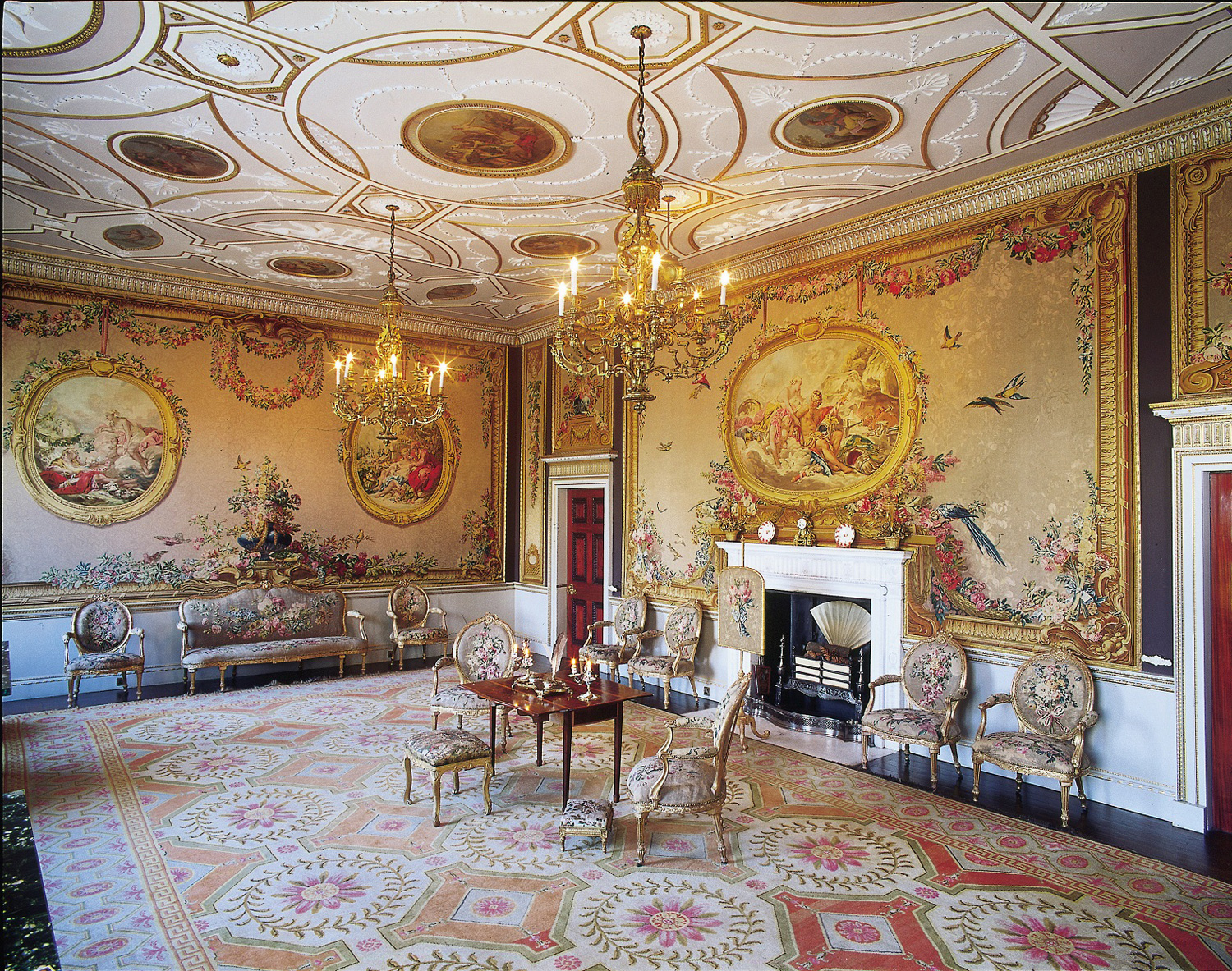 the tapestry room newby hall. Black Bedroom Furniture Sets. Home Design Ideas