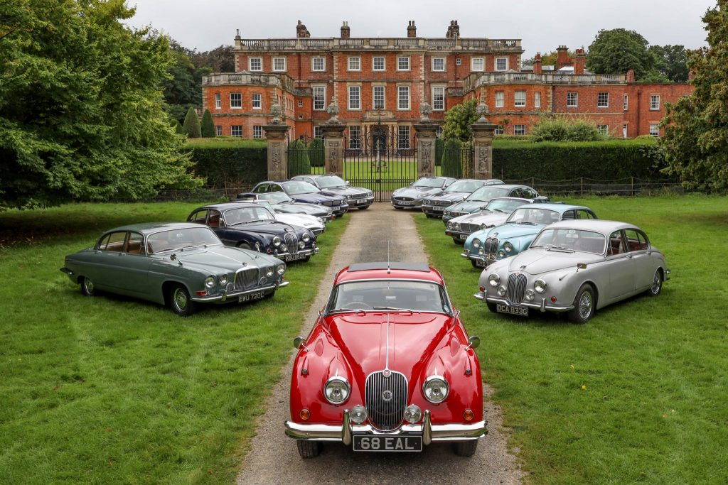 Jaguars in front of Newby Hall